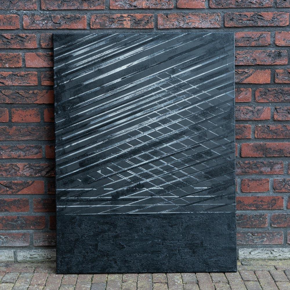 IK VOEL DAT ZE NAAR ME KIJKEN - acrylic on canvas - 70 x 100 cm - 2018