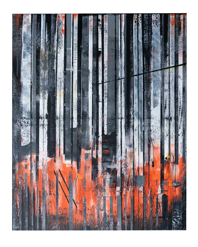 DE KLEUR VAN OORLOG - acrylic on canvas - 80 x 100 cm - 2018