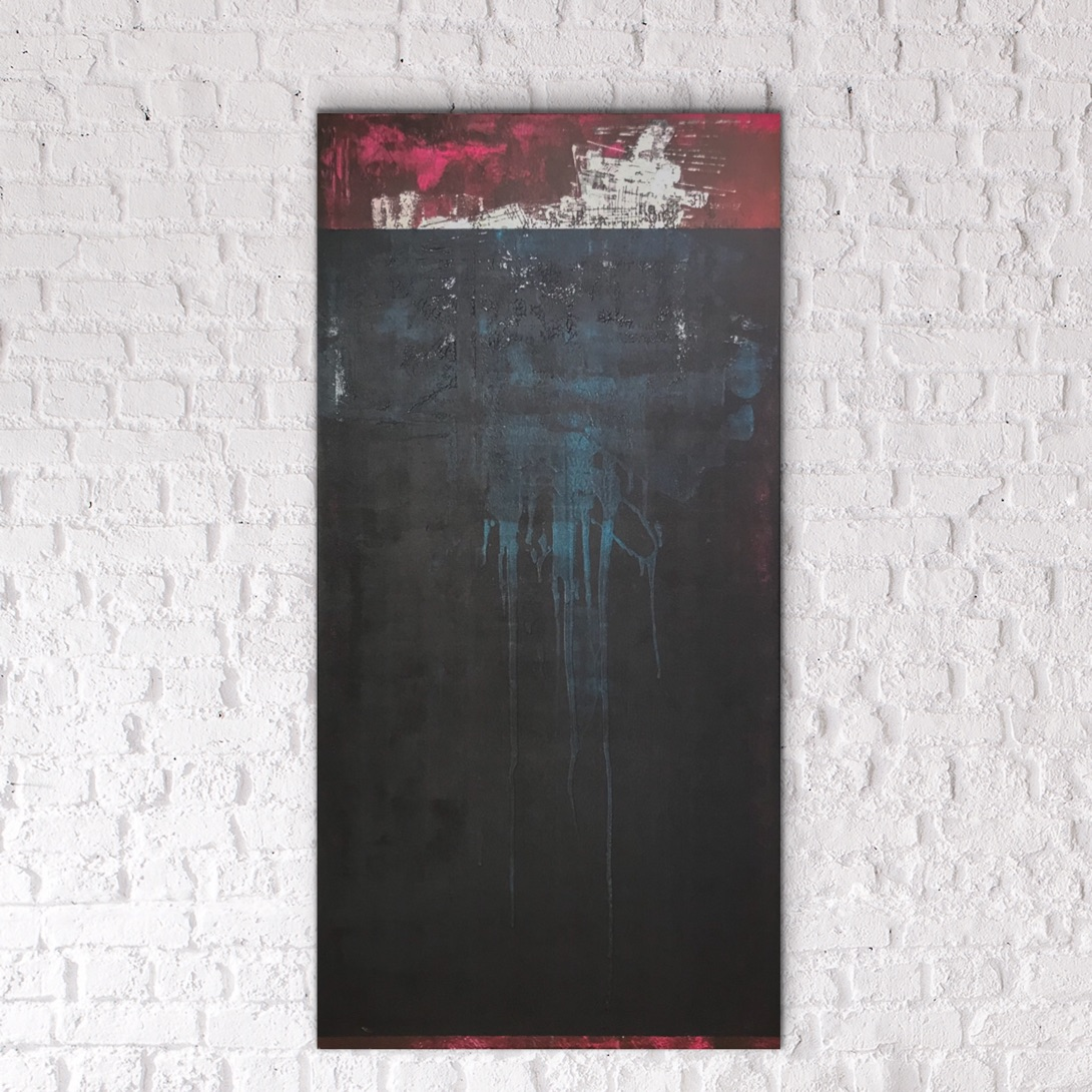 ALS EEN KWAL IN DE STROMING - acrylic on canvas - 60 x 120 cm - 2019