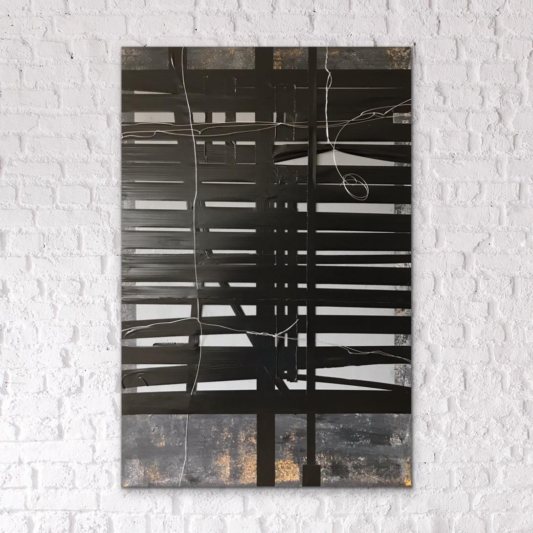 ONTWERP 1b - mixed media on canvas - 80 x 120 cm - 2019
